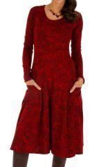 Robe mi-longue pour l'hiver colorée et ethnique Nakuru 312821