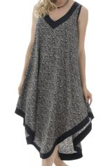 robe mi-longue sobre avec col v et coupe originale Aradan 292155