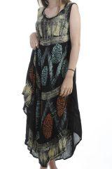 Robe mi-longue style africain avec imprimés originaux Poupy 296567