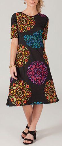 Robe mi-longue style ethnique tendance Margaux 2 271725