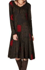 Robe mi-longue style hippie avec imprimé floral Pommy 302389