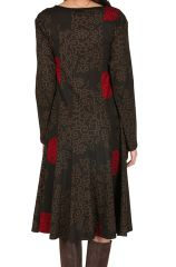 Robe mi-longue style hippie avec imprimé floral Pommy 302391