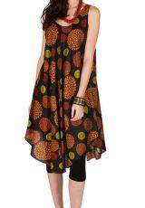 Robe mi-longue tendance et rétro avec imprimés colorés Adélie 296296