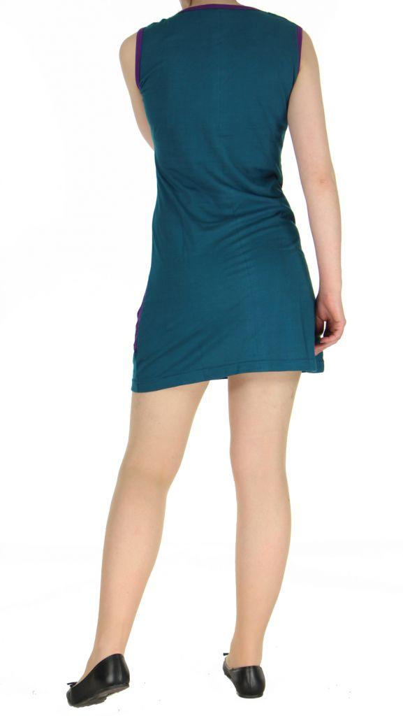 Robe mode ethnique bleue Marina 268825
