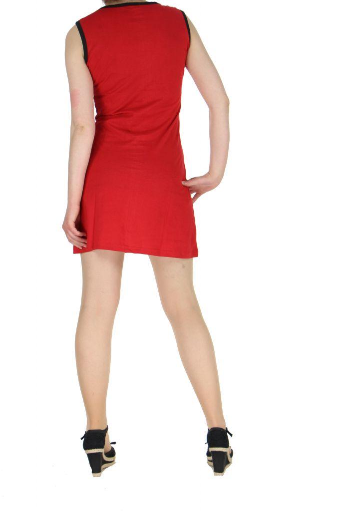 Robe motif tribal rouge Mathaz 268335