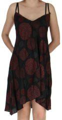 Robe Noire asymétrique Originale et Colorée Samka 282379