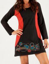 Robe Noire courte d'hiver Originale et Imprimée Malte 279691