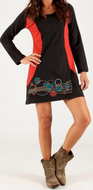 Robe Noire courte d'hiver Originale et Imprimée Malte 279692