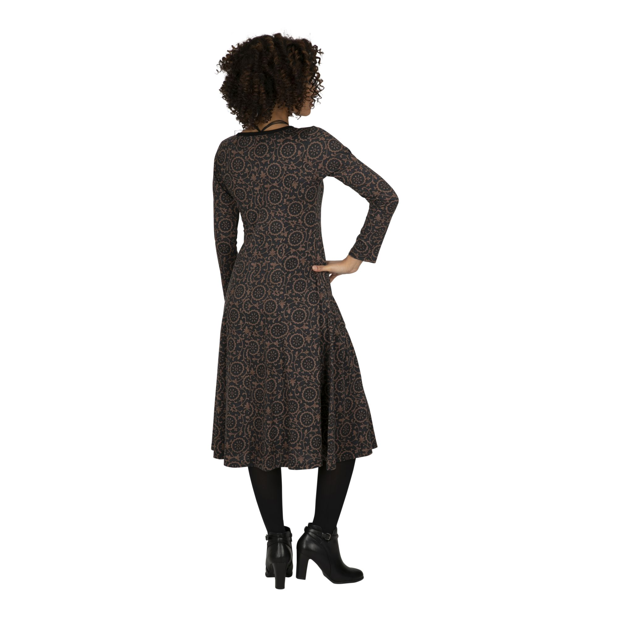 Robe noire de coupe ample pour femme Kibungo
