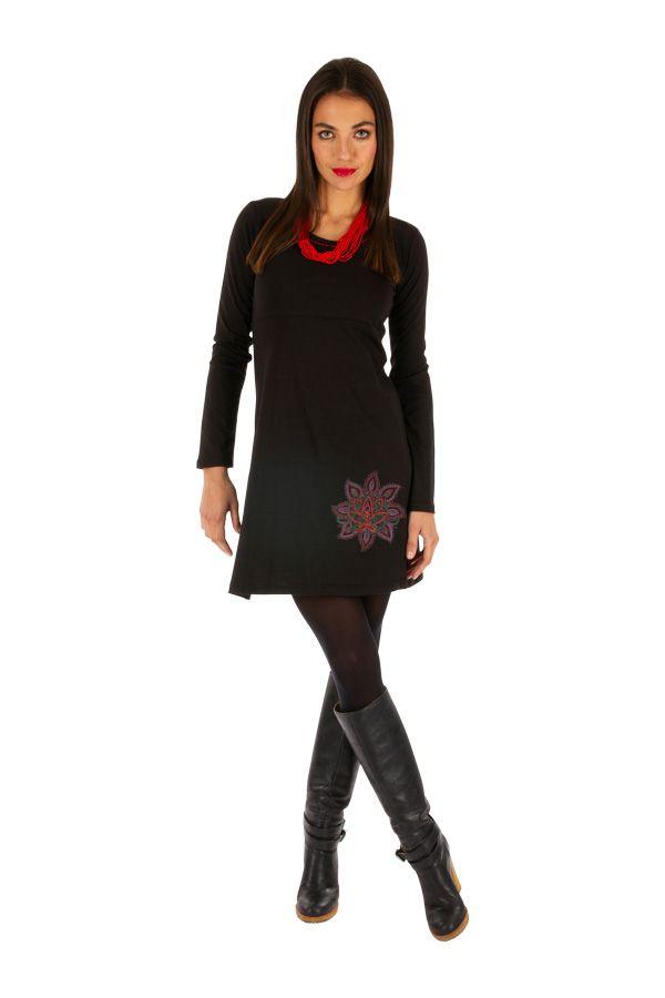 Robe noire du Népal à manches longues idéale hiver Guiglo 314030