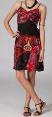 Robe noire et rouge courte pas cher originale Blondine 269802