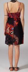 Robe noire et rouge courte pas cher originale Blondine 269803