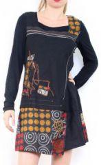 Robe noire originale style créateur Vanessa 302607