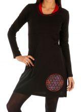 Robe noire pour femme de style ethnique et original Loyada 314053