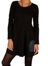 Robe noire pour femme ethnique chic et pas chère Suez 314059