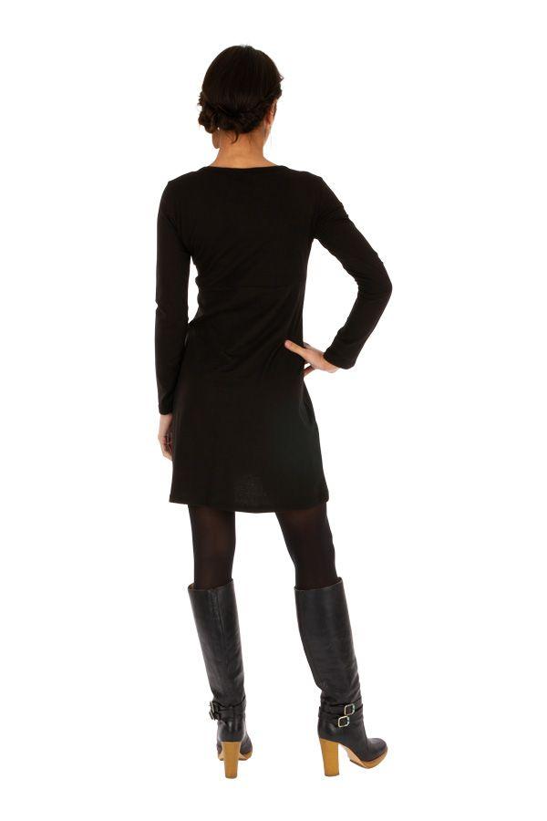 Robe noire pour femme ethnique chic et pas chère Suez 314061