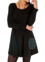 Robe noire pour femme idéale hiver ou mi-saison Dabou 314002