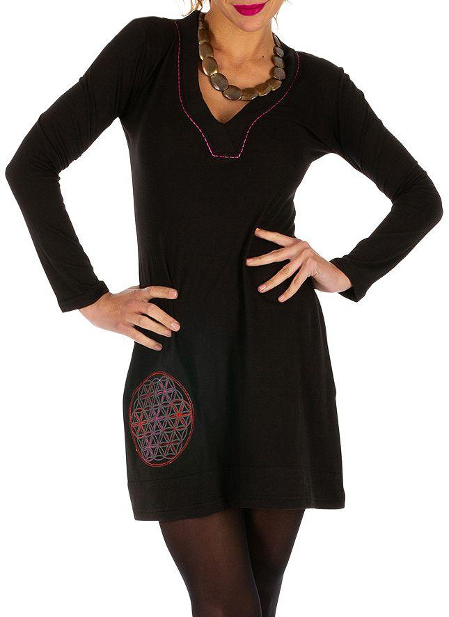 Robe noire pour femme très féminine et charmante Mirontsi 313916