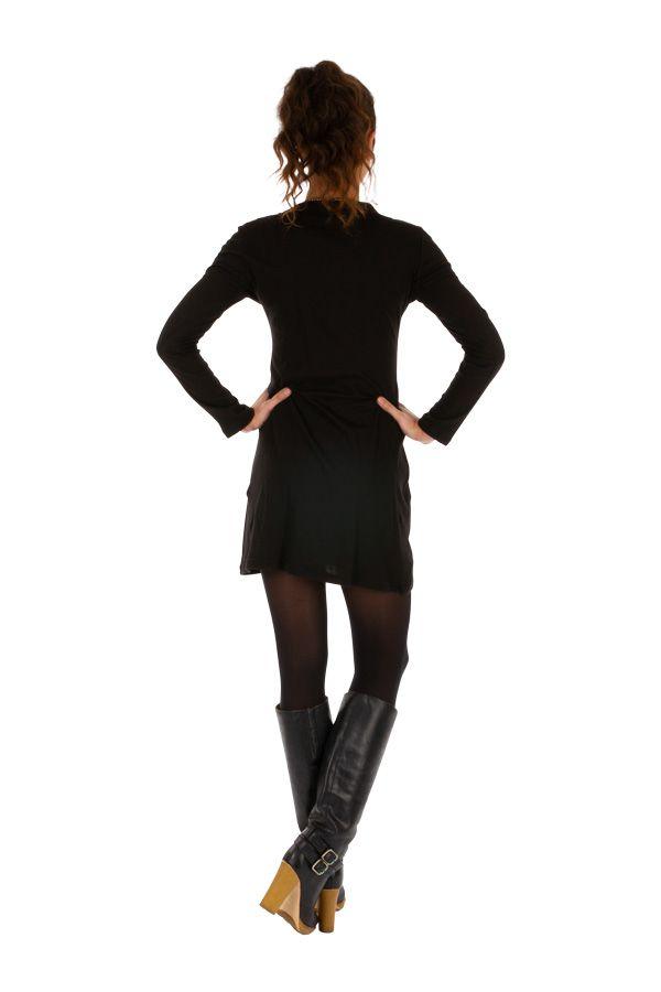 Robe noire pour femme très féminine et charmante Mirontsi 313918
