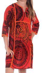 Robe Orange pour Enfant type Orientale et Colorée Yasmine 280647