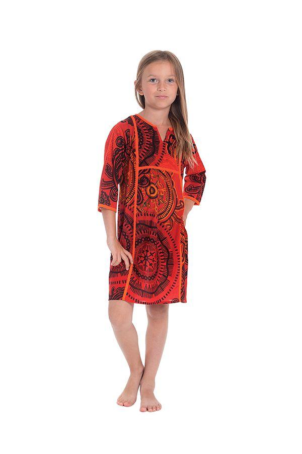 Robe Orange pour Enfant type Orientale et Colorée Yasmine 280648