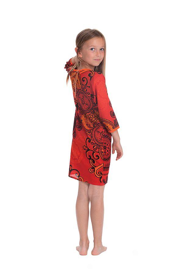 Robe Orange pour Enfant type Orientale et Colorée Yasmine 280649
