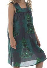 Robe originale à larges bretelles et imprimé hindous Aria 294420