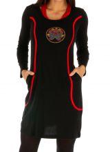 Robe originale à liserés rouges très féminine Moanda 312689