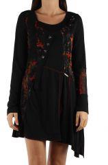 Robe originale avec un imprimé pas chère Loumina orange 304356