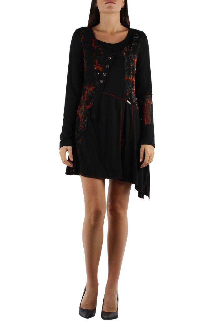 Robe originale avec un imprimé pas chère Loumina orange 304357