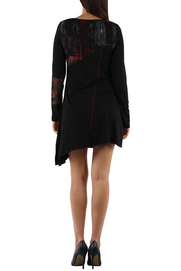 Robe originale avec un imprimé pas chère Loumina orange 304359