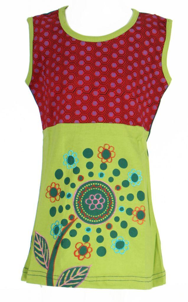Robe originale bébé et enfant verte Maëlis 269646