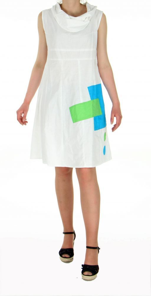 Robe originale col pétale blanche 245180