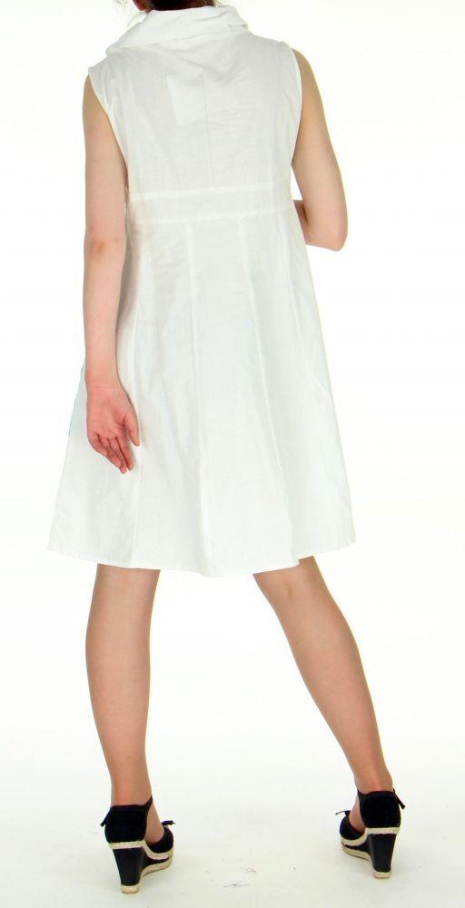 Robe originale col pétale blanche 255213