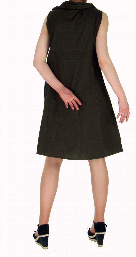 Robe originale col pétale marron 255211