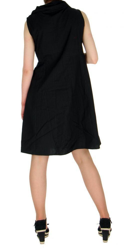 Robe originale col pétale noire 255212