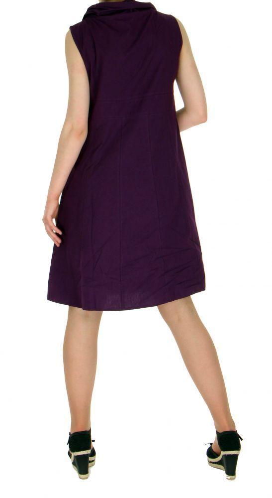 Robe originale col pétale violette 255214