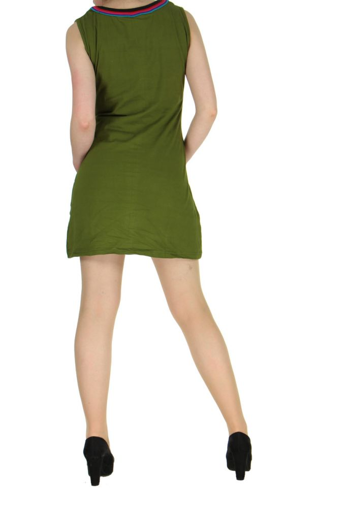 Robe originale colorée kaki Kélina 268484