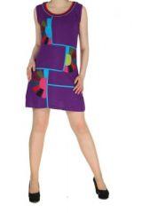 Robe originale colorée violette Kélina 268481