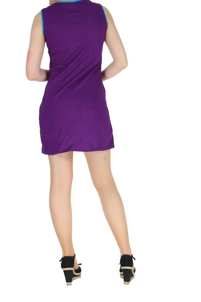 Robe originale courte violette Tania 268366