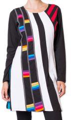 Robe Originale d'hiver à col rond Colorée Seggura Noire 278929