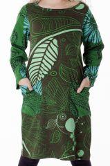 Robe originale dans les tons vert pour enfant 287285