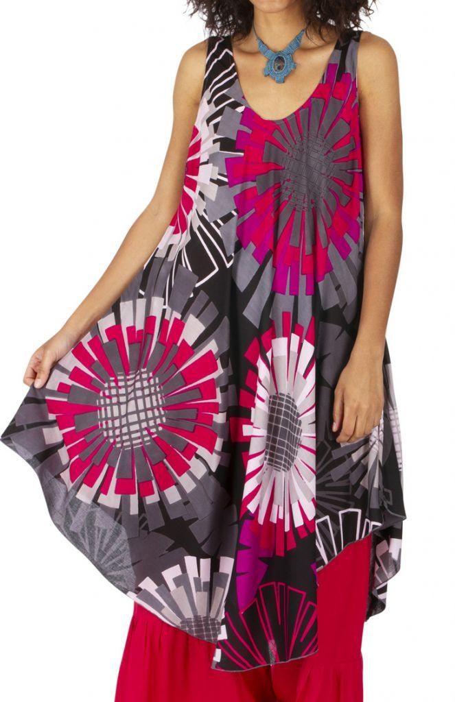 Robe originale effet tunique longue sur un pantalon Mathiya 317003