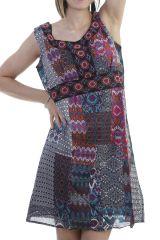Robe originale en coton avec imprimés fantaisies Marcy 296427
