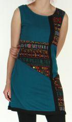 Robe Originale et Colorée en maille sans manches Tatiana Emeraude 276410