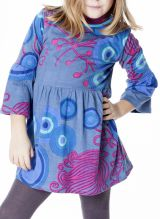 Robe originale et colorée froncée à la taille pour enfant 287229