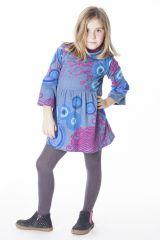 Robe originale et colorée froncée à la taille pour enfant 287230