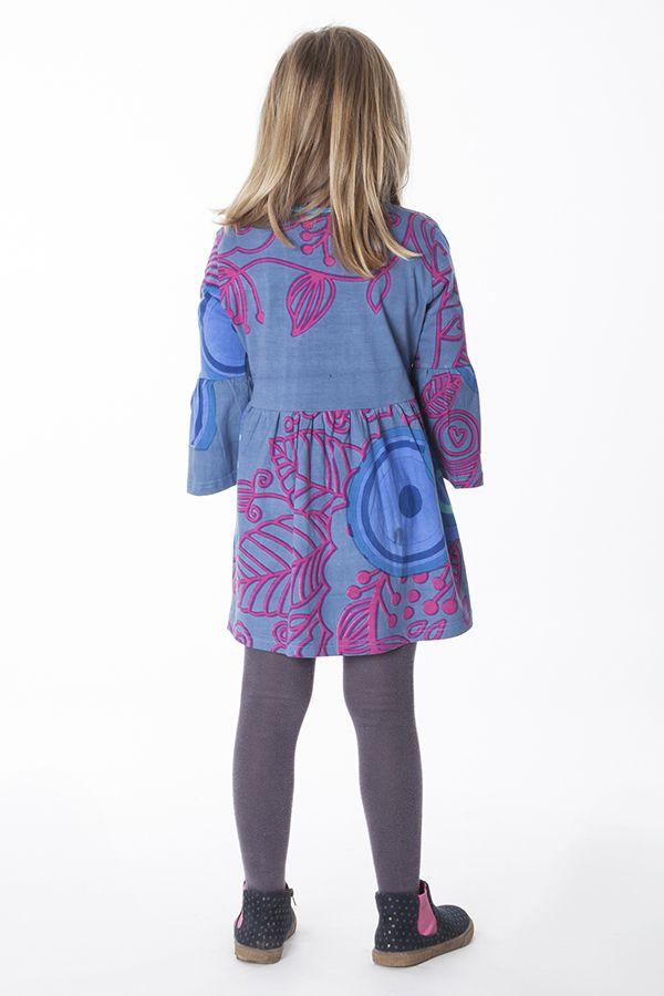 robe originale et color e fronc e la taille pour enfant. Black Bedroom Furniture Sets. Home Design Ideas