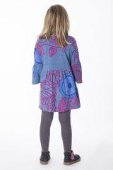 Robe originale et colorée froncée à la taille pour enfant 287231