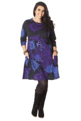 Robe Originale et Ethnique en Grande Taille Artik Bleue 286233